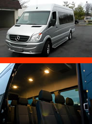 Mercede Sprinter Midibus for bigger groups for your transportation needs.