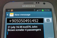 Book your transfer from Dalaman to Icmeler with text message